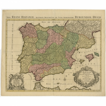 Nova Regni Hispaniae Accurata Descriptio (..) - Jaillot (c.1720)