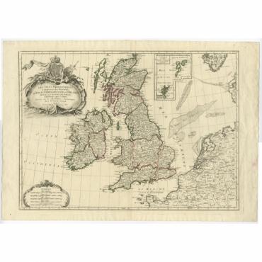 Les Isles Britanniques Comprenant (..) - Lattre (c.1770)
