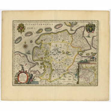 Typus Frisiae Orientalis - Blaeu (1635)