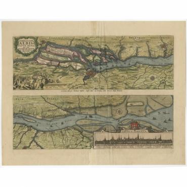 Nobilissimi albis fluvii ostia (..) - Visscher (1698)