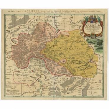 Die Grafschaft Mansfeld Konigl. Preuss. (..) - Homann (c.1750)