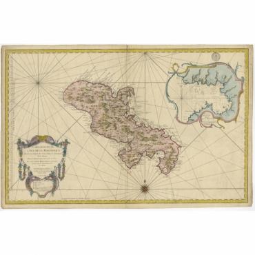Carte Reduite de l'Isle de la Martinique - Bellin (1758)