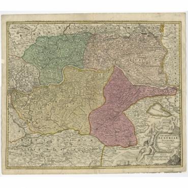 Archiducatus Austriae inferioris (..) - Homann (c.1720)