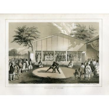 Wrestlers at Yokuhama - Heine (1857)
