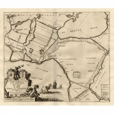 Lemsterland, de zesde Grietenije der Zevenwolden - Halma (1718)