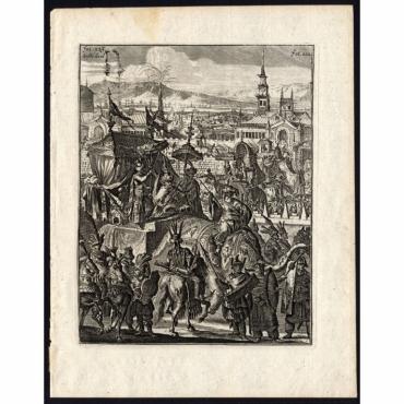 Beschryving van de vijf-jarige verschijning des Koninks (..) - Schouten (1708)