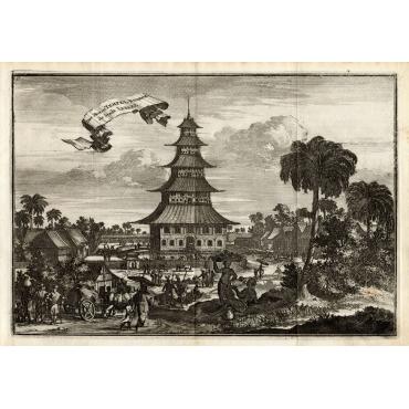 Der Moren Tempel binnen de Stadt Iapare - Schouten (1708)