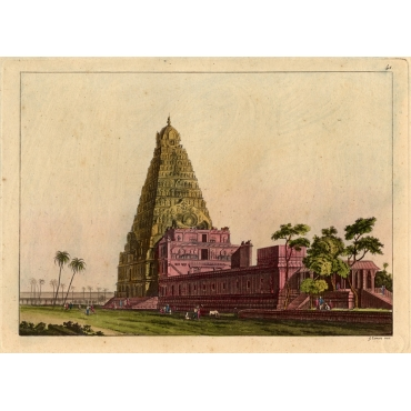 Pl.41 Temple in South East Asia - Ferrario (1827)