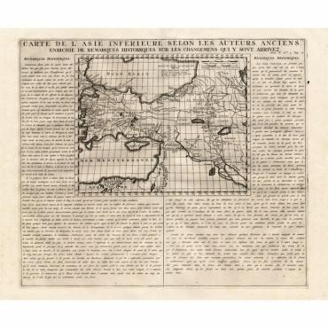 Carte de l'Asie inferieure selon les auteurs anciens.. - Chatelain (1732)