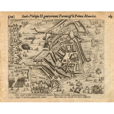 Pl.209 Siege of Steenwijk by Prince Maurits - Baudartius (1616)