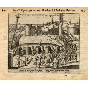 Pl. 101 Kampen taken over by state forces - Baudartius (1616)