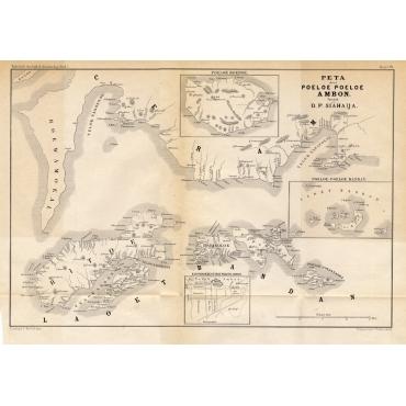 Peta deri Poeloe Poeloe Ambon (..) - Stemler (1874)