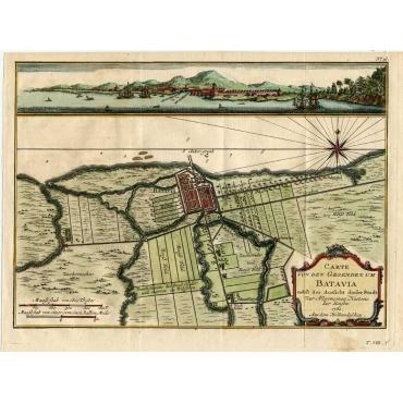 Carte von den Gegenden um Batavia (..) - Schwabe (1751)