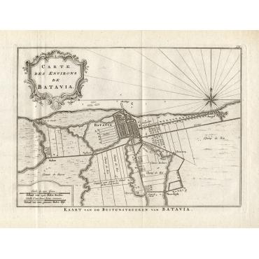 Carte des environs de Batavia - Conradi (1782)