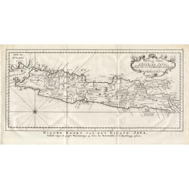 Nouvelle Carte de l' Isle de Java - Conradi (1782)