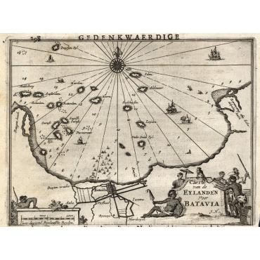 Caerte van de Eylanden voor Batavia - Nieuhof (1682)