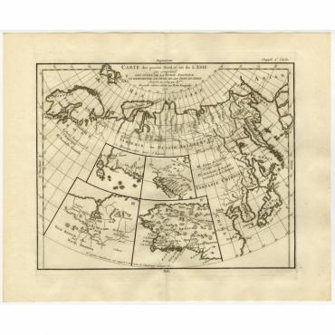 Carte des parties nord et est de L'Asie - Diderot (1751)