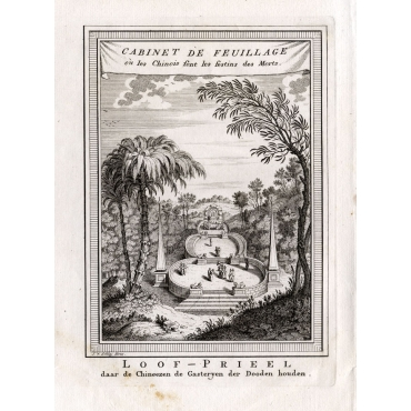Cabinet de Feuillage ou les Chinois font les festins des Morts - Van Schley (1750)