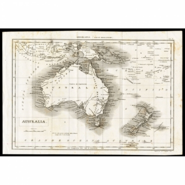 Tab V Geografia,  Australia - Nuova Enciclopedia (1866)