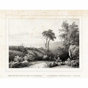 Pl.XXXVII Celebes - Gezigt op den weg van Kema naar Tondano - Van de Velde (1844)