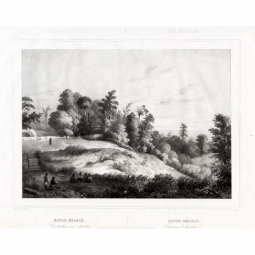 Pl.XXIX Molukschen Archipel - Batoe-Medjah. Omstreken van Ambon - Van de Velde (1844)