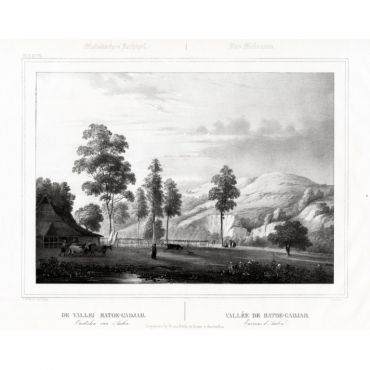 Pl.XXVII Molukschen Archipel - De Vallei Batoe-Gadjah (..) - Van de Velde (1844)
