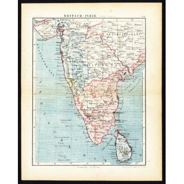 Pl.57 Britsch-Indie, Zuid-west - Kuyper (1880)