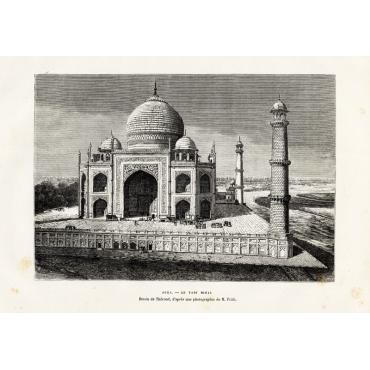 Agra - Le Tadj Mahal - Reclus (1883)