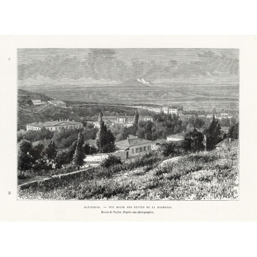 Patigorsk - Vue prise des pentes de la Machouka - Reclus (1881)