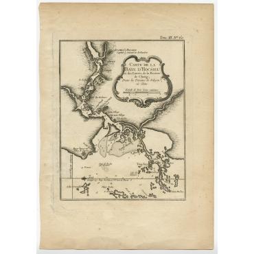 Carte de la Baye d'Hocsieu - Bellin (1764)