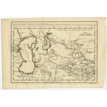 Carte De Karazm, Turkestan Et Grande Bukarie  - Bellin (1749)