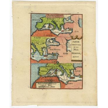 Mer Mediterranee Selon Les Anciens (..) - Mallet (c.1719)