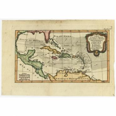 Carte du Golfe du Mexique (..) - Bonne (c.1780)