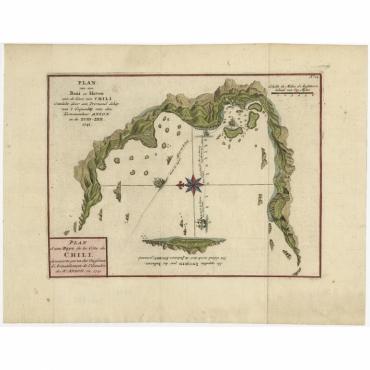 Plan d'une Baye et d'un Havre sur la cote du Chili (..) - Bellin (c.1760)