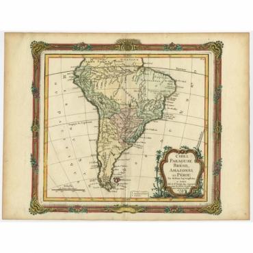 Chili, Paraguay, Bresil, Amazones et Perou - Brion de la Tour (c.1766)
