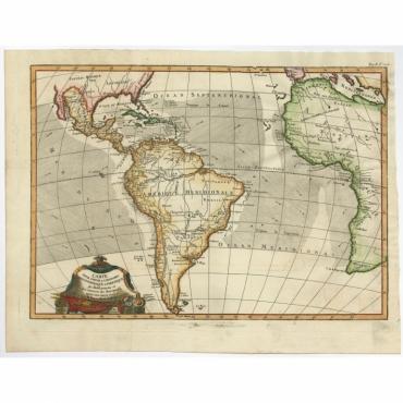 Carte pour Servir a l' Histoire Philosophique (..) - Bonne (c.1775)