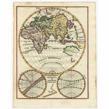 Proiectio Optica Aequinoctia lis Hemishaerii Orientalis - Scherer (c.1700)