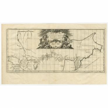 Carte Des Pays traverses par le Capne (..) - D'Anville (1737)