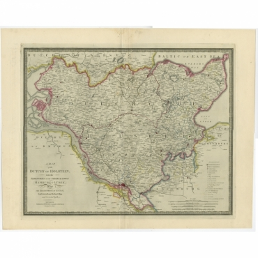 A Map of the Dutchy of Holstein (..) - Wyld (c.1840)