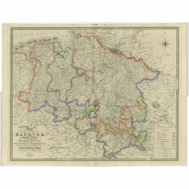 Map of the Kingdom of Hanover (..) - Wyld (c.1840)