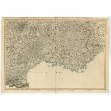The South Eastern Part of France (..) - Faden (1799)