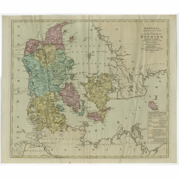 Bowles's new pocket map of the Kingdom of Denmark (..) - Bowles (c.1780)