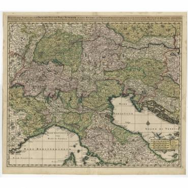 Exactissima Tabula, qua tam Danubii Fluvii Pars Superior - Visscher (c.1690)