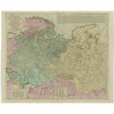 Bowles's New Pocket Map of the Russian Empire in Europe - Bowles (c.1780)