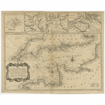 A Correct Chart of the English Channel (..) - Seale (c.1745)
