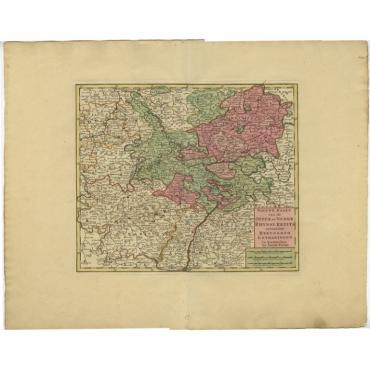 Nieuwe Kaart van de Opper en Neder Rhynse Kreits (..) - Tirion (c.1740)