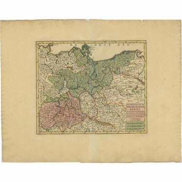 Nieuwe Kaart van de Opper Saxise Kreits - Tirion (c.1740)