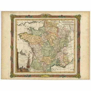 La France, divisée en ses quarante Gouvernemens Généraux - Brion de la Tour (1766)
