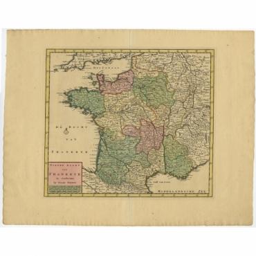Nieuwe Kaart van Frankryk - Tirion (c.1740)