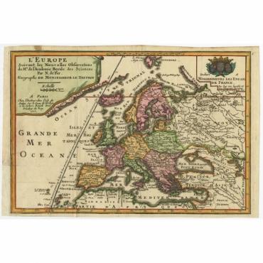L'Europe suivant les Nouvelles Observations (..) - De Fer (1717)